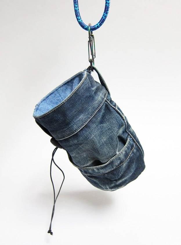 6. Denim Chalk Bag DIY