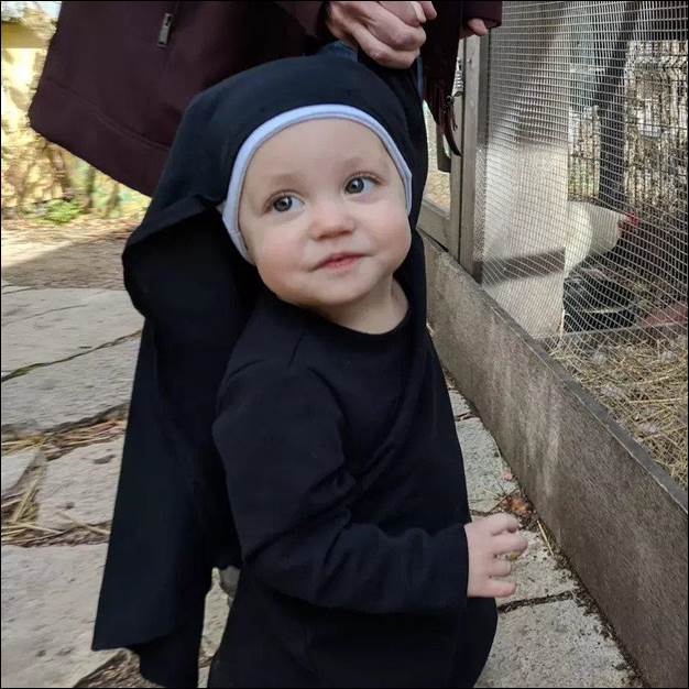 6. No New Nun Baby Costume