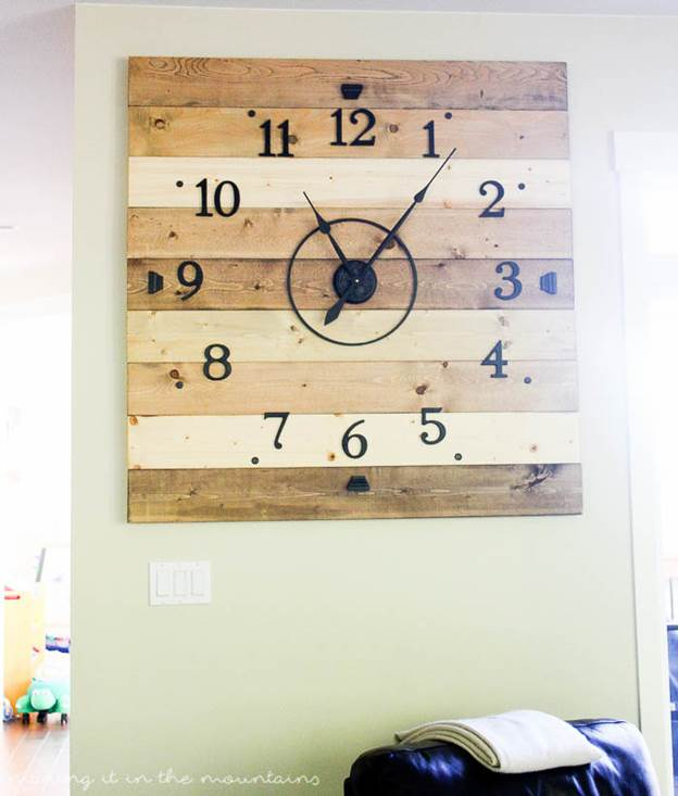 7-Rustic-Wood-Clock-DIY
