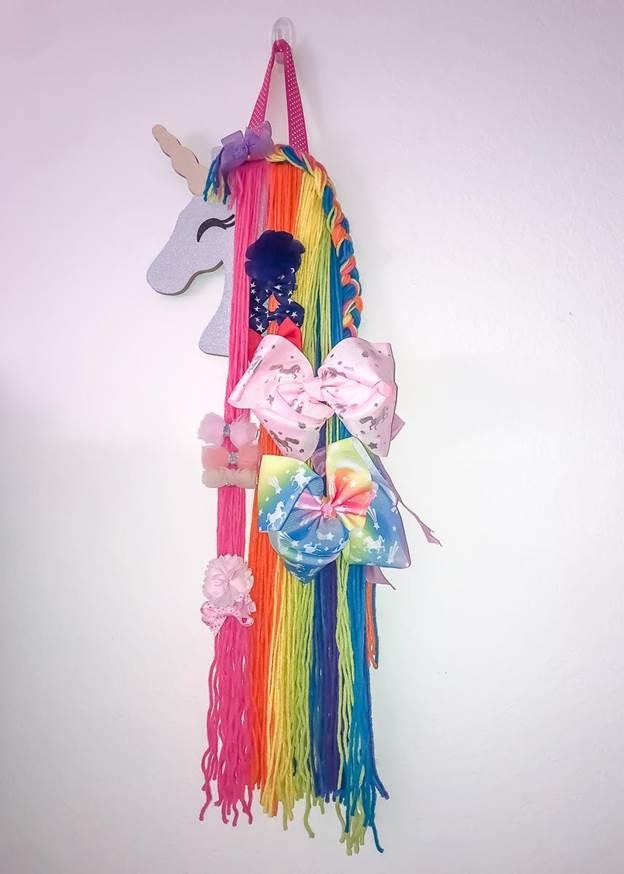 8-DIY-Rainbow-Unicorn-Bow-Holder