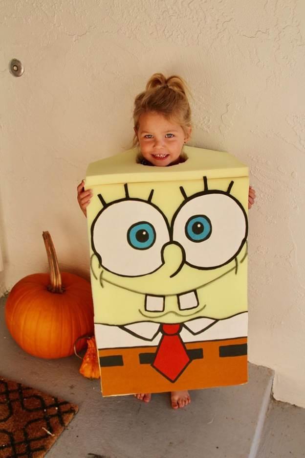 9. Spongebob Costume With Cardboard