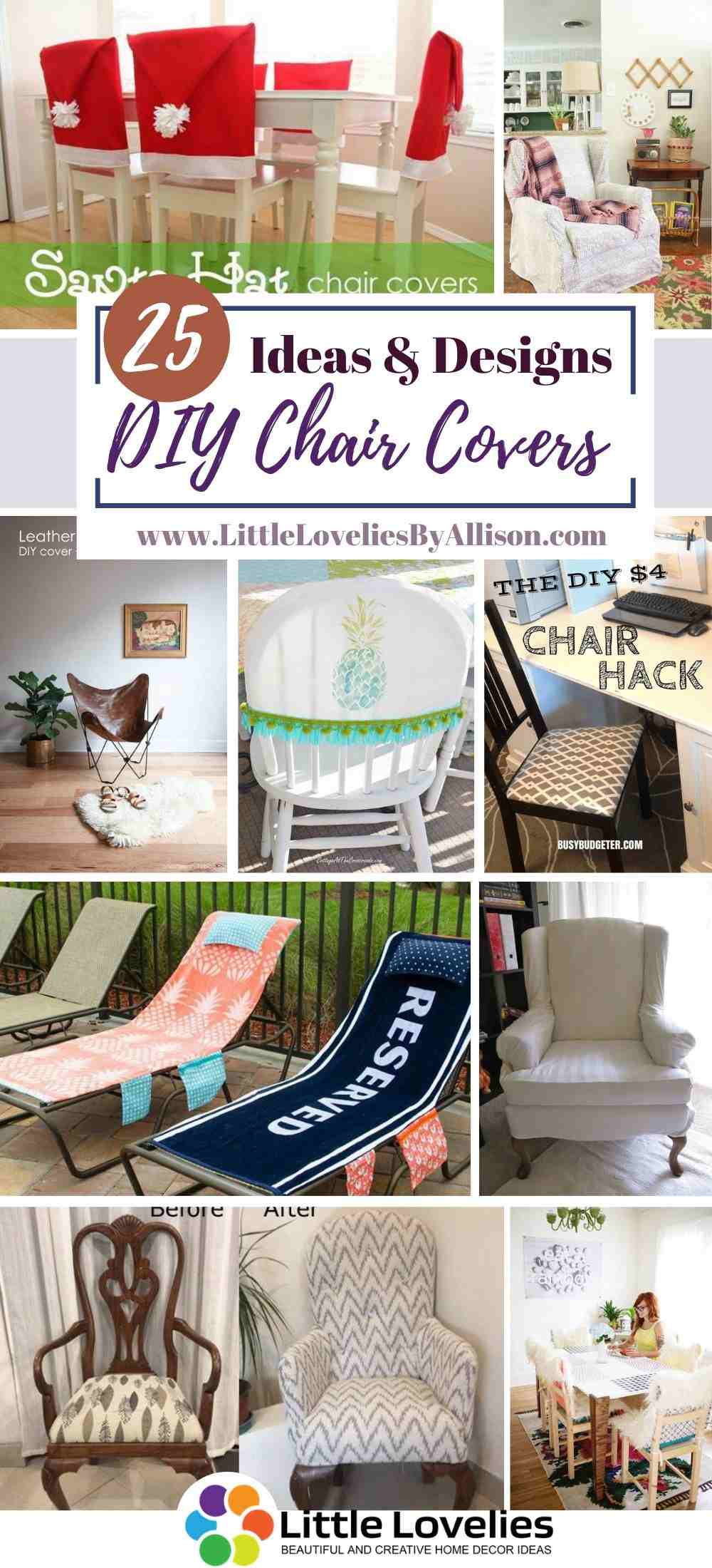 25 Diy Chair Covers Homemade Chair Cover Tutorial