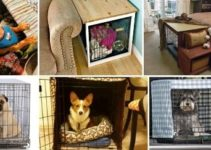 15 Simple DIY Dog Crate Cover Ideas