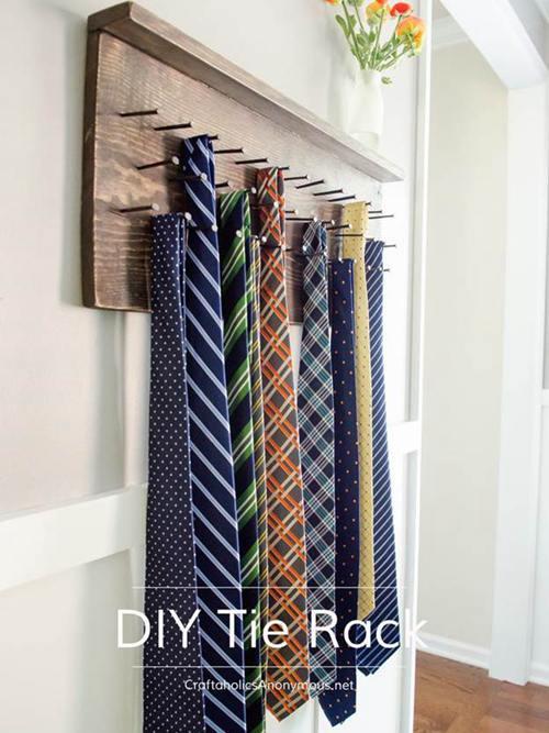 DIY Tie Rack Projects