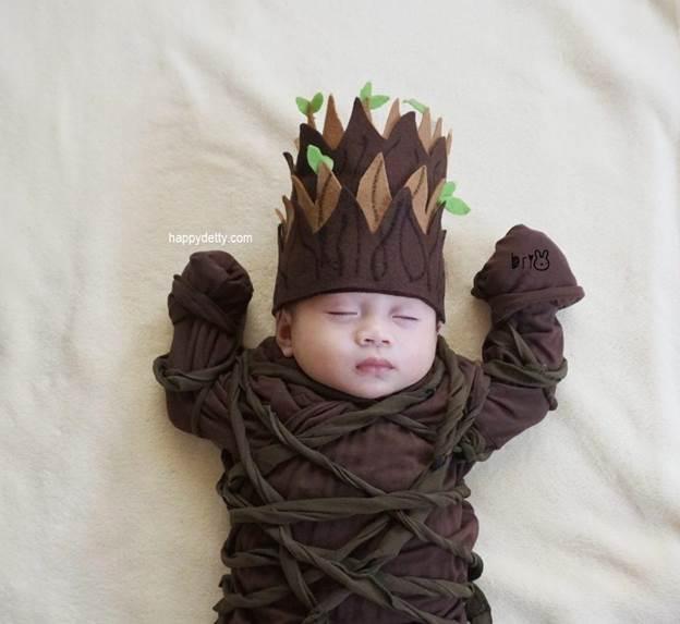 12-DIY-No-Sew-Baby-Groot-Costume
