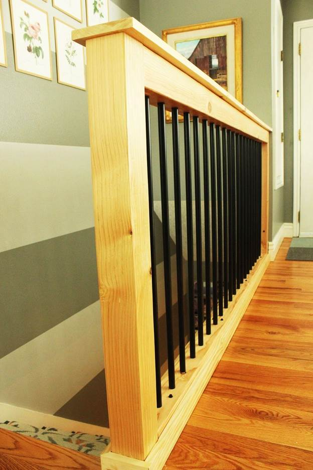 5-DIY-Stair-Handrail-With-Industrial-Pipe-And-Wood
