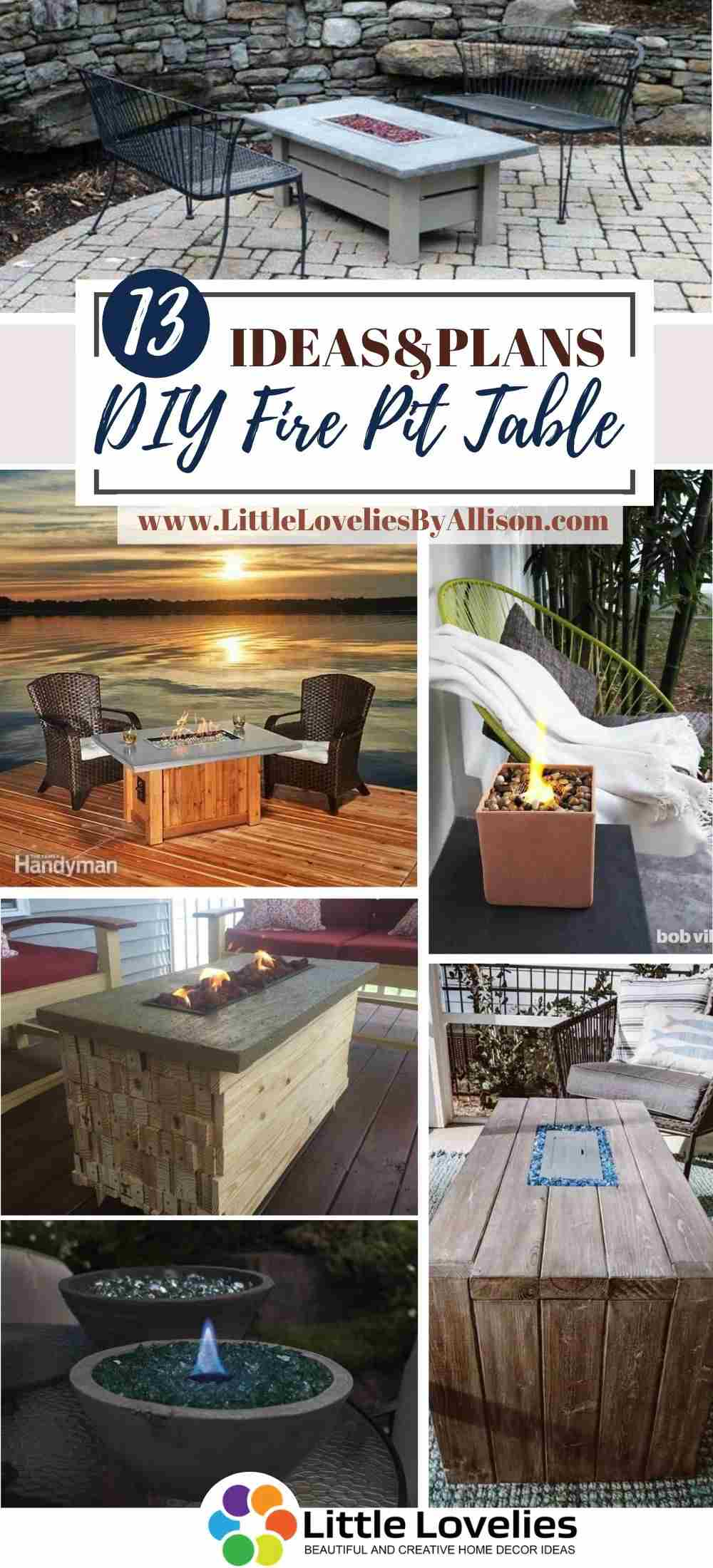 20 DIY Fire Pit Table   How To Build A Fire Table