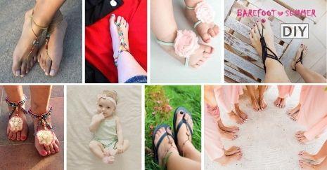 DIY-Barefoot-Sandals