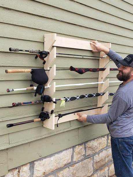 DIY Fishing Rod Holder