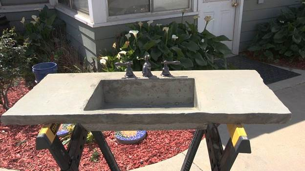 1. DIY Concrete Sink