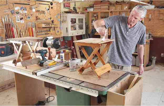 1. DIY Folding Table