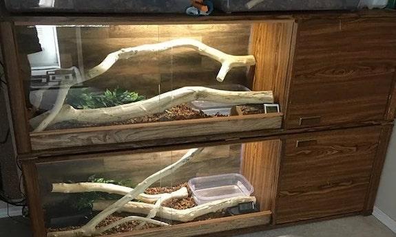 1. Repurposed DIY Reptile Enclosure Plan
