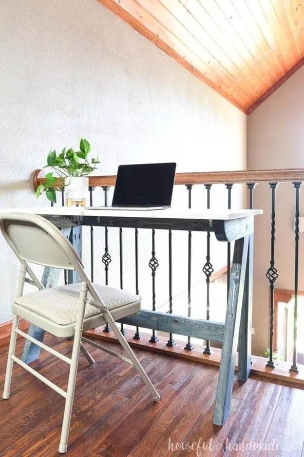 11. DIY Fold Away Desk