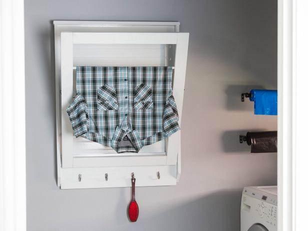 13. DIY Fold-Down Laundry Drying Rack