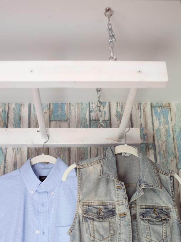 14. DIY Drying Rack From Ladder