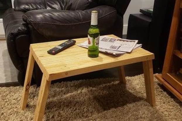 14. DIY Folding Side Table