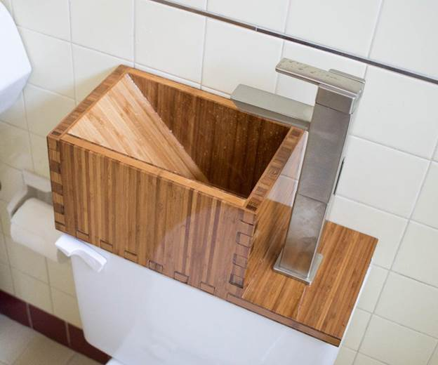 14. DIY Toilet Top Sink