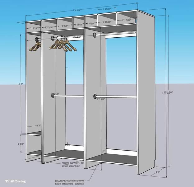 14. How To Build Closet Organizer
