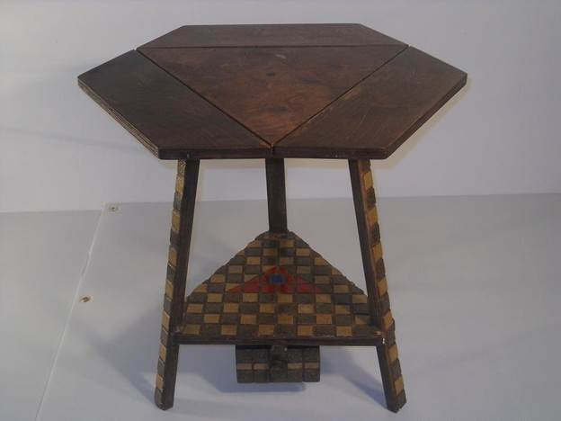 15. DIY Hexagon Folding Table