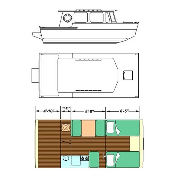 15. Full Houseboat Plans