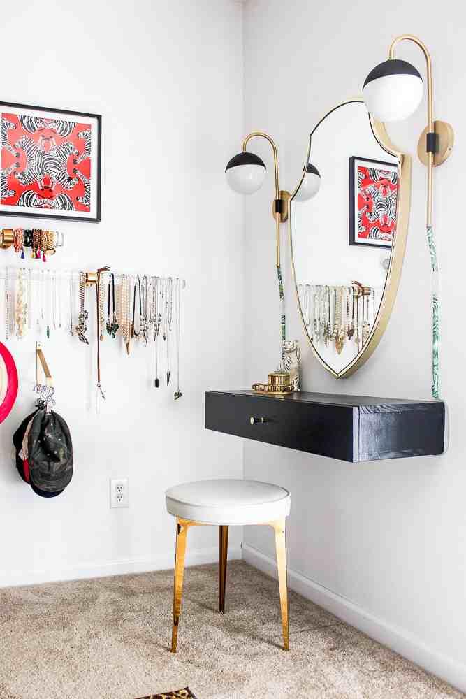 16. DIY Makeup Vanity Table