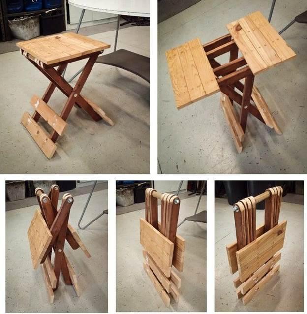 16. DIY Small Folding Table