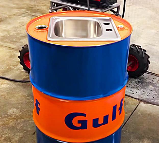 18. How To Make An Oil Drum Sink