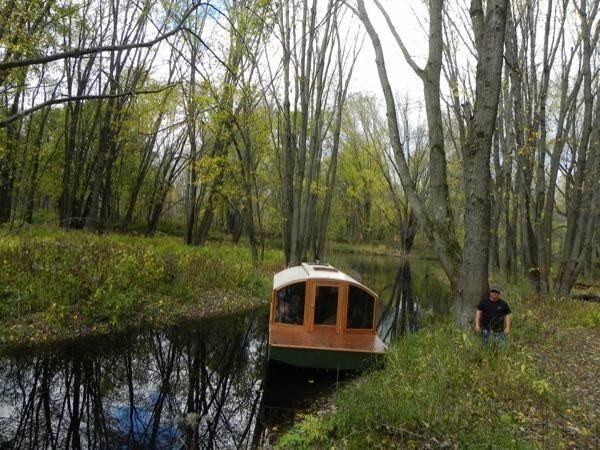 2. Cheap Micro Houseboat