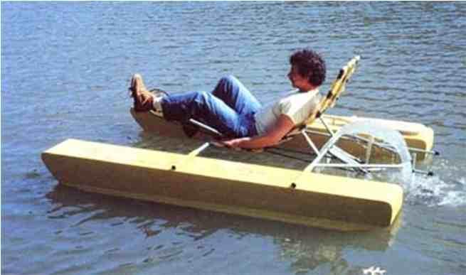 3-Recumbent-Pedal-Pontoon-Boat