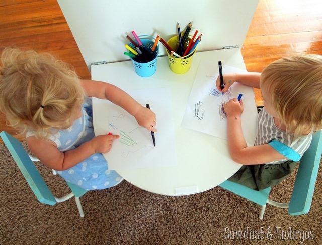 3. DIY Folding Table for Kids