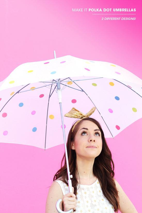 4. Polka Dotted Umbrella