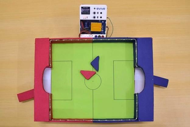 6. DIY Magnetic Air Hockey Table With Cardboard
