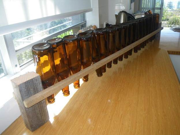 7. DIY Beer Bottle Drying Rack