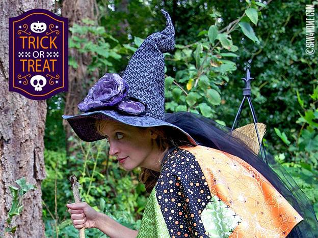 7. DIY Dead Roses Witch Hat