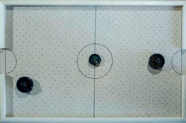 7. Desktop Air Hockey Table DIY
