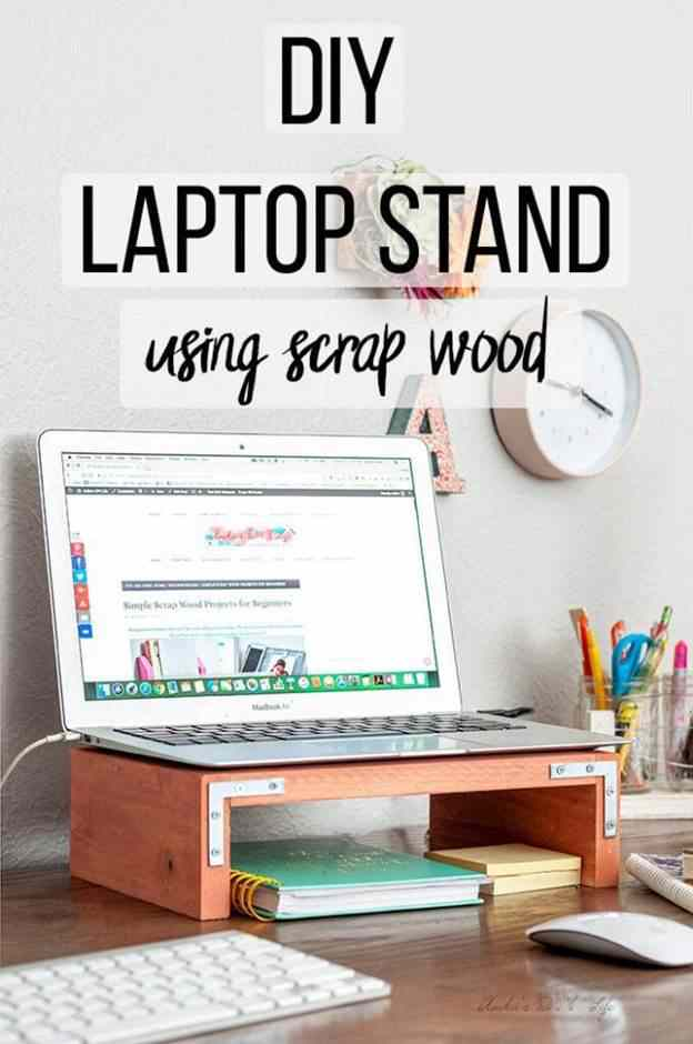 8-Laptop-Stand-DIY-Using-Scrap-Wood