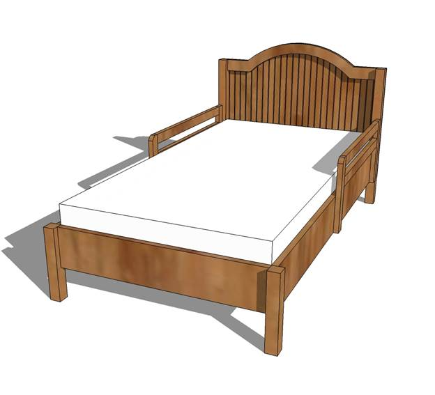 8-Traditional-Wood-Toddler-Bed