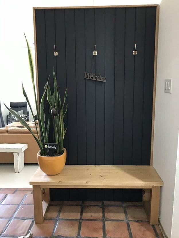 9-DIY-Modern-Hall-Tree-Bench
