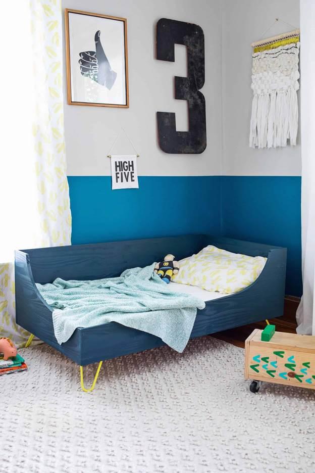 9-DIY-Modern-Toddler-Bed