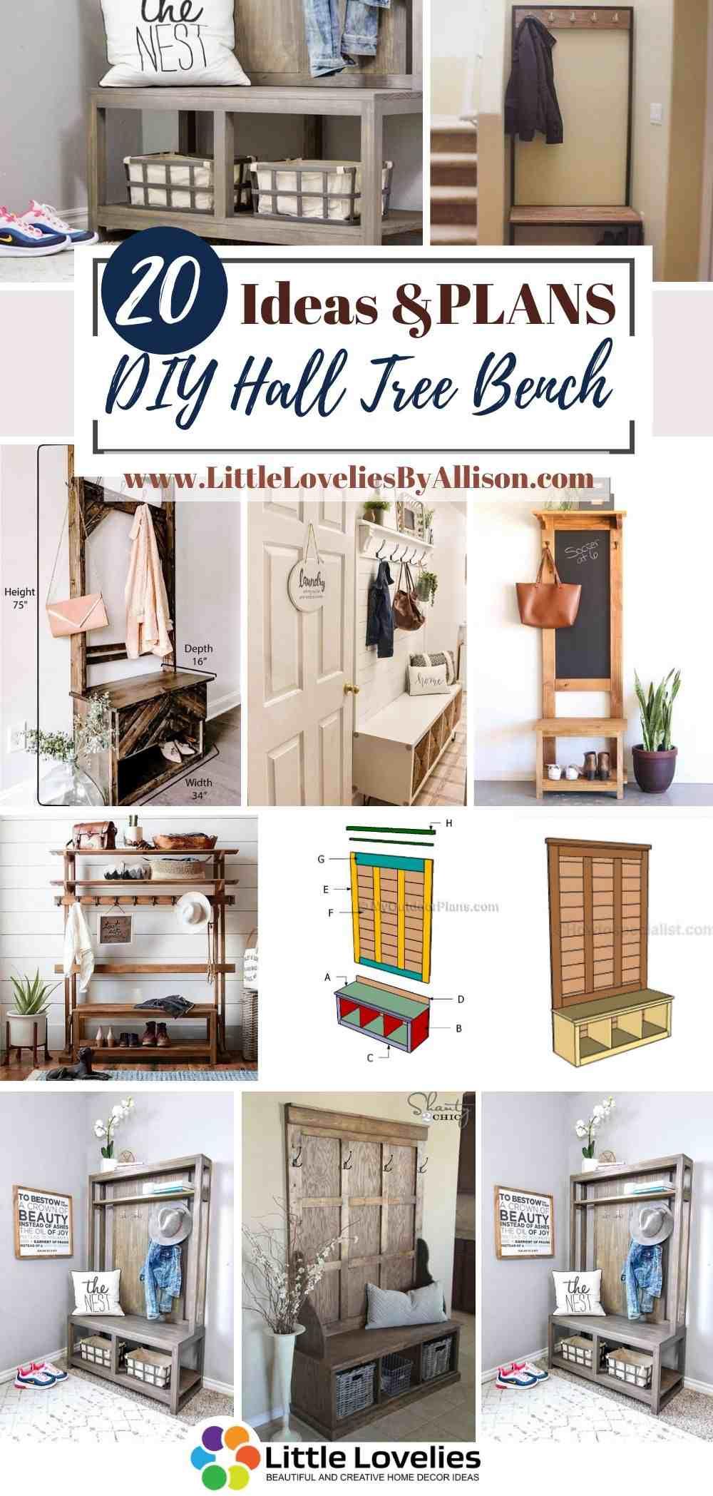 Best-DIY-Hall-Tree-Bench