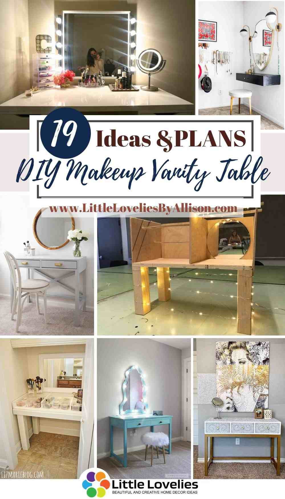 19 Diy Makeup Vanity Table Ideas That You Can Make Easily