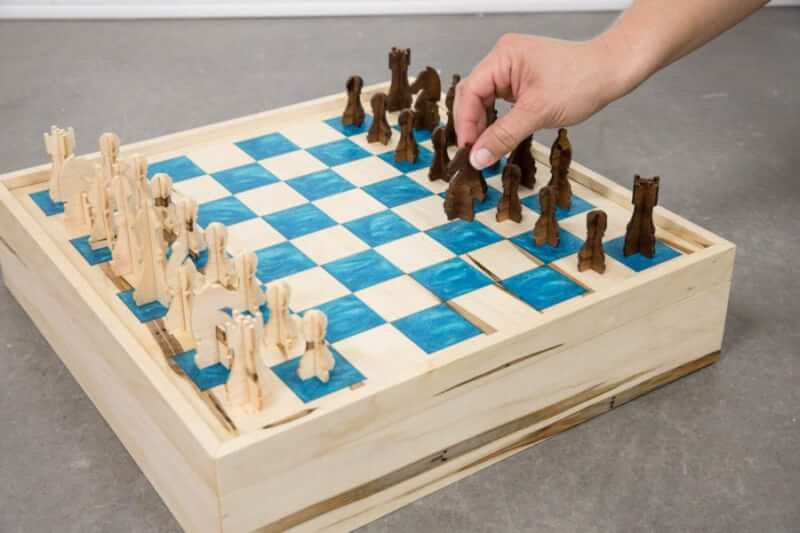 1. DIY Chess Board And Checkers Set