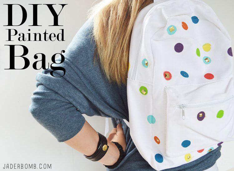 1. DIY Polka Dot Backpack