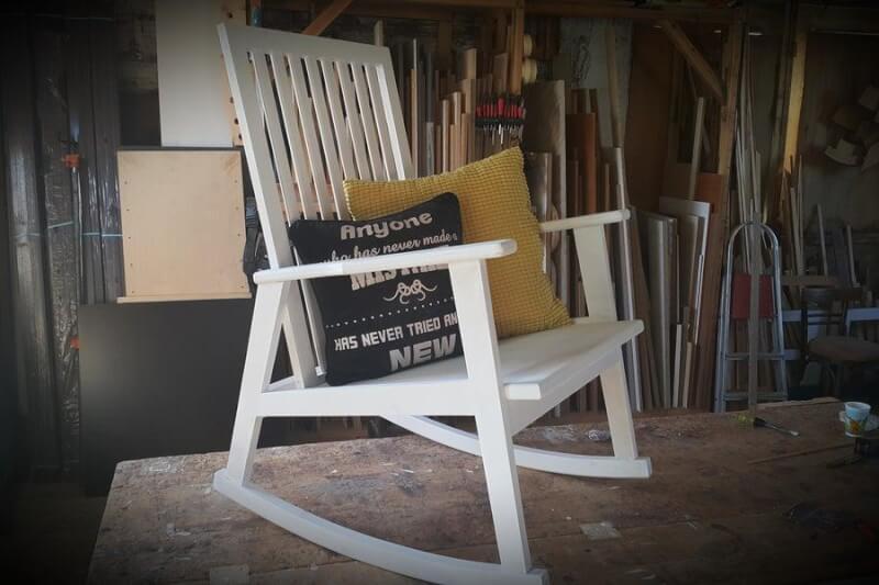 1. DIY Wooden Rocking Chair