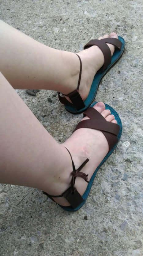1. Leather Sandal DIY