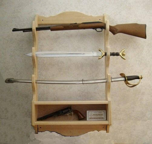 1. Rod's Woodworking Shop - Rifle Rack plan