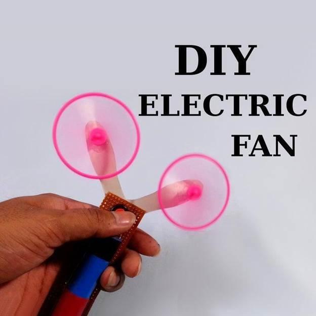 10. DIY Electric Handheld Fan