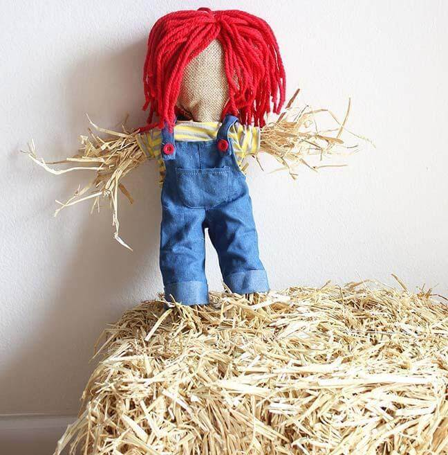 10. How To Make A Small Scarecrow