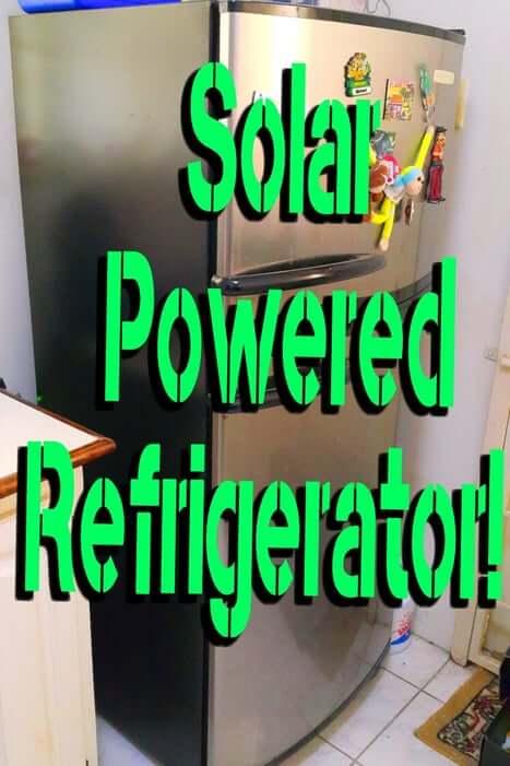 10. Solar Powered Refrigerator DIY