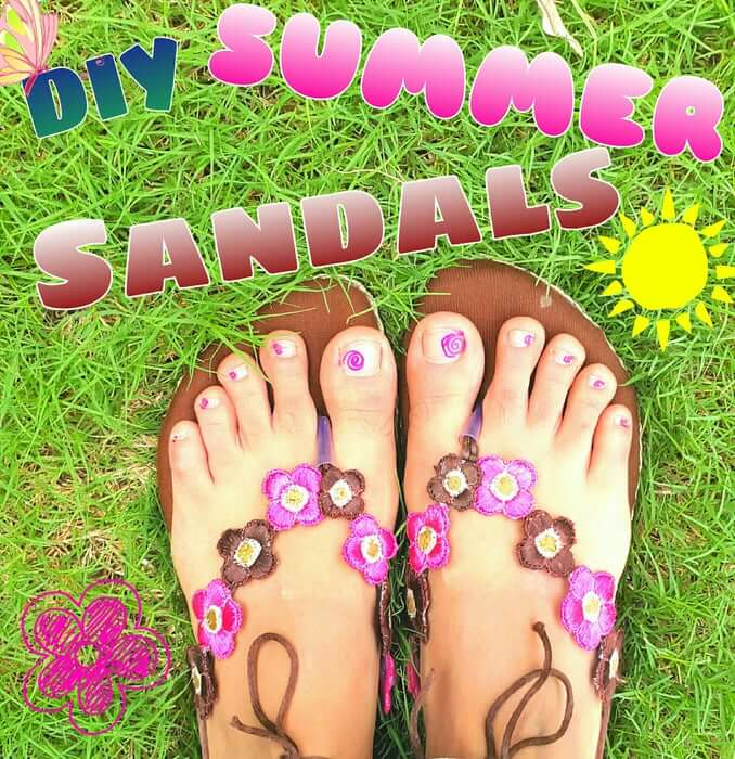 10. Summer Sandals DIY